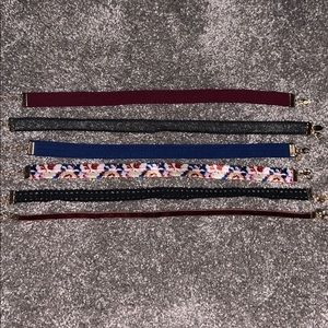 set of 6 choker necklaces